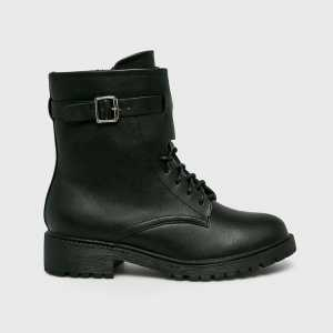 Medicine Magasszárú cipő Hand Made női fekete