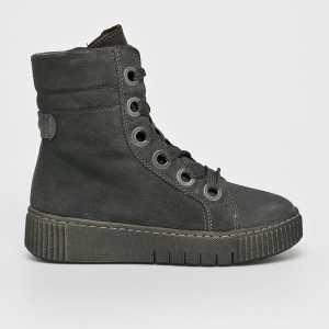 Tamaris Magasszárú cipő női szürke