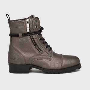 Pepe Jeans Magasszárú cipő Melting Metal női arany