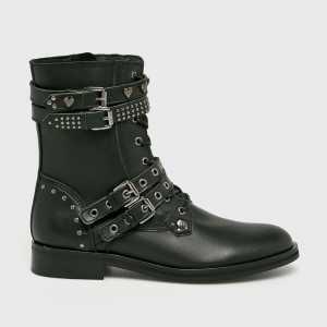 Trussardi Jeans Magasszárú cipő női fekete