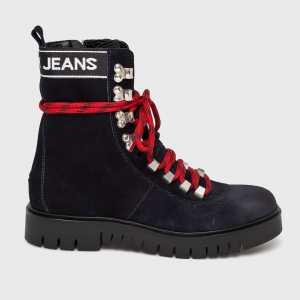 Tommy Jeans Magasszárú cipő női sötétkék
