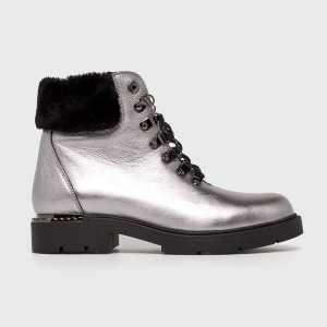 CheBello Magasszárú cipő női ezüst