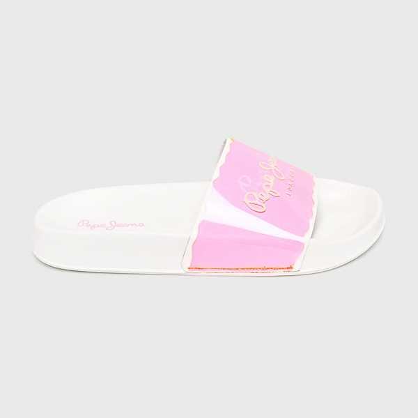 Pepe Jeans Papucs cipő Flap Flour női erős rózsaszín
