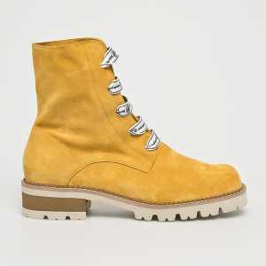 Solo Femme Magasszárú cipő női sárga